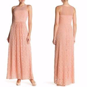 EVA FRANCO Jemima CORAL Crochet Lace Maxi Dress 2